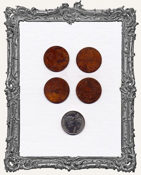 1 Inch Rusty Tin CIRCLES PACK OF 4