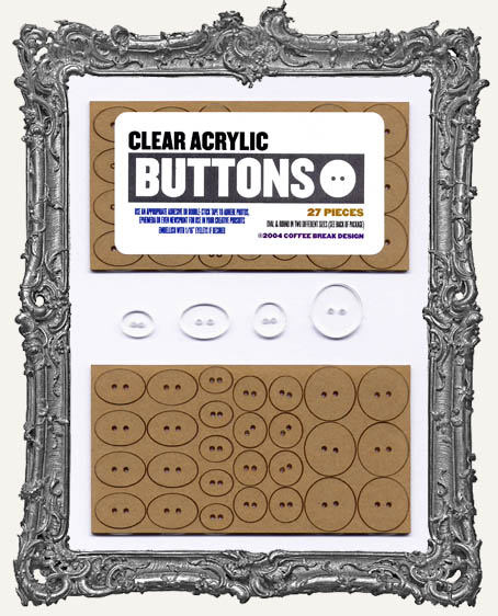 Clear Acrylic Tags - BUTTONS