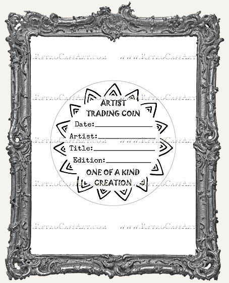 Artist Trading Coin Back Finishing Label STICKERS - Sunshine