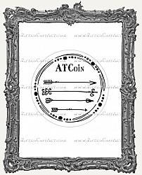 Artist Trading Coin Back Finishing Label STICKERS - Doodle Arrows