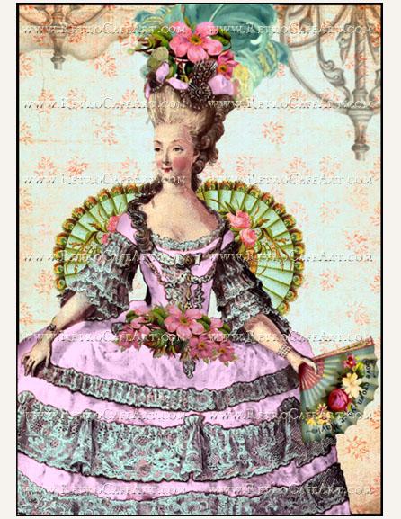 5 x 7 Marie Antoinette Image by Debrina Pratt - DP269