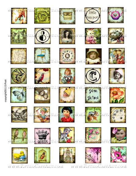 1 Inch Squares Collage Sheet by Debrina Pratt - DP273