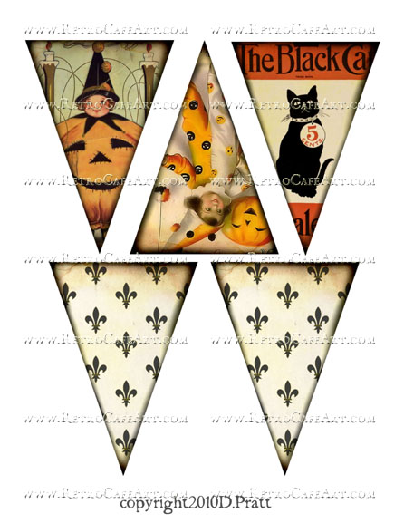 Halloween Banner Images Collage Sheet by Debrina Pratt - DP284