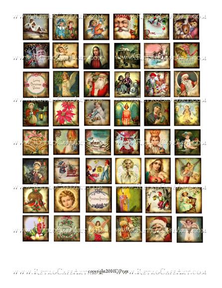 1 Inch Christmas Squares Collage Sheet by Debrina Pratt - DP299