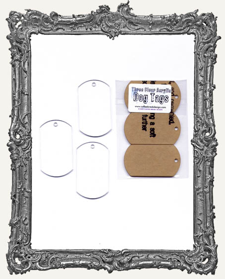Clear Acrylic Tags - DOG TAGS