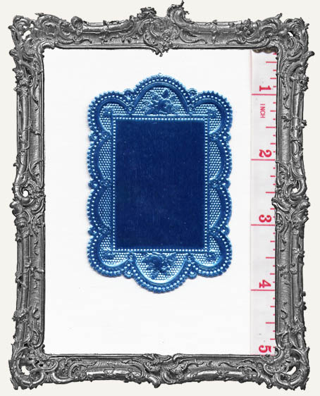 German Dresden Fancy Doilie AQUA 1 Piece Double Sided