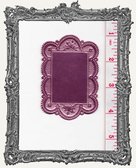German Dresden Fancy Doilie PINK 1 Piece Double Sided