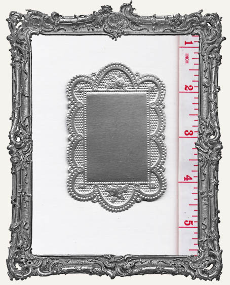 German Dresden Fancy Doilie SILVER 1 Piece Double Sided