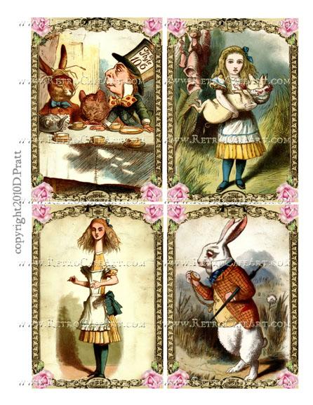 Alice in Wonderland Collage Sheet by Debrina Pratt - DP321