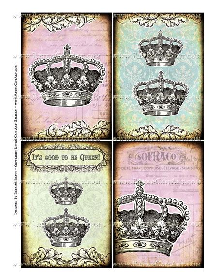 Good To Be Queen Collage Sheet by Debrina Pratt - DP329