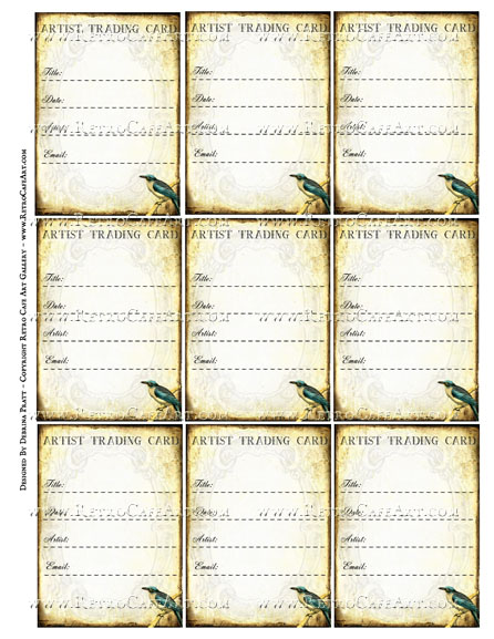 ATC Signature Backs Collage Sheet by Debrina Pratt - DP330