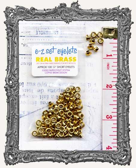 """E-Z Set Eyelets - 1/8"""" Brass SHORT"""