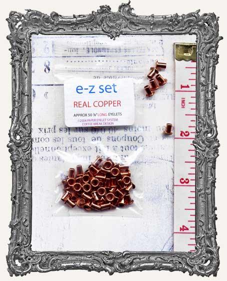 "E-Z Set Eyelets - 1/8"" Copper LONG"