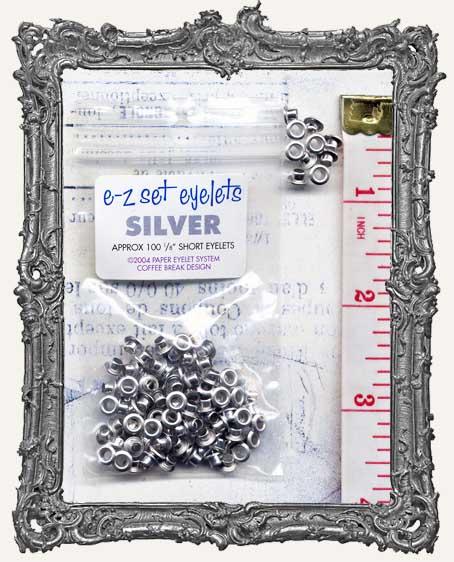 """E-Z Set Eyelets - 1/8"""" Silver SHORT"""