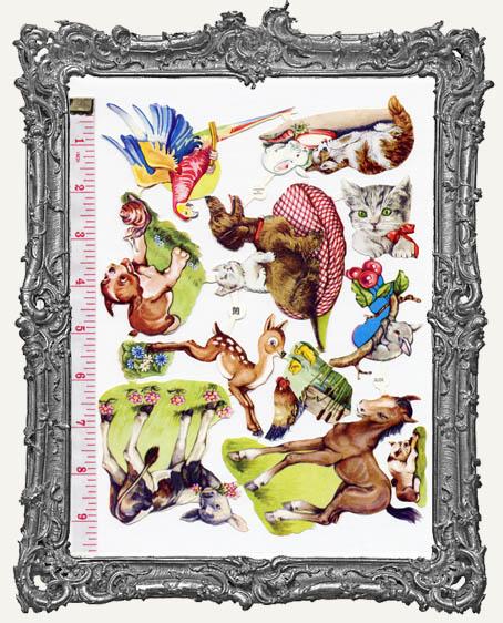 German Scrap - Victorian Animals