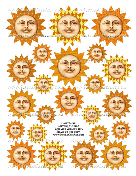 Happy Suns Collage Sheet