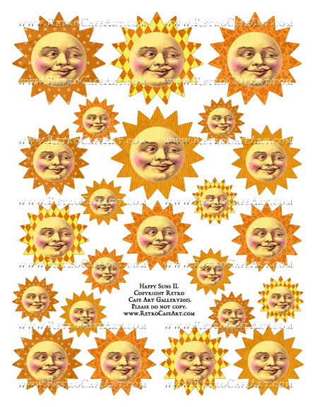 Happy Suns II Collage Sheet