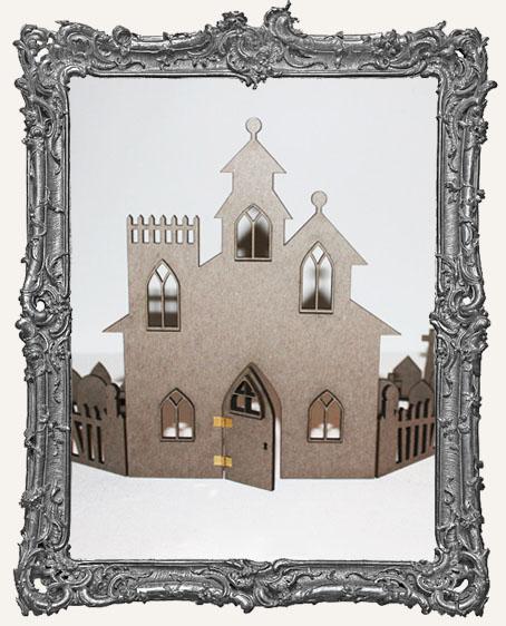 Gothic CHIPBOARD Haunted House Shelf Shrine Kit