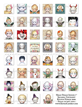 Hello Dollie Inchies 1 Inch Squares