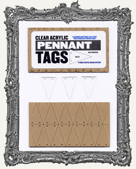 Clear Acrylic Tags - PENNANTS
