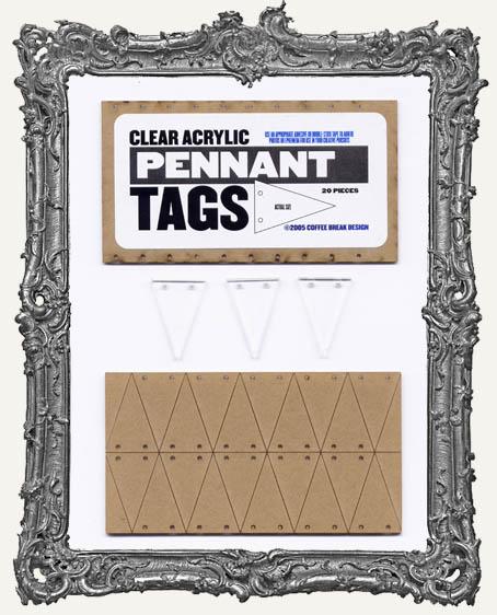 Clear Acrylic Tags - PENNANTS