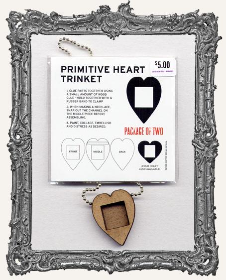 Primitive Heart Shrine Pendant PACKAGE OF 2