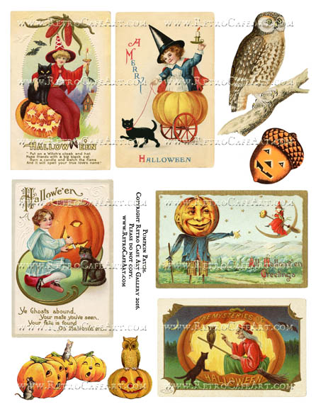 Pumpkin Patch Halloween Collage Sheet