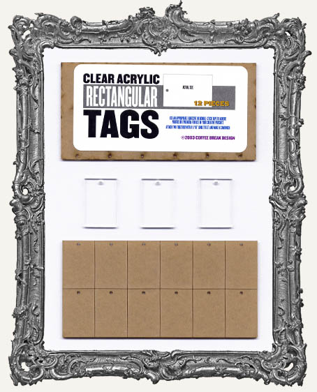 Clear Acrylic Tags - RECTANGLES