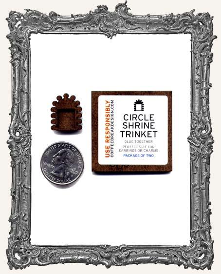 Circle Shrine Charm El Tiny Trinket PACKAGE OF 2