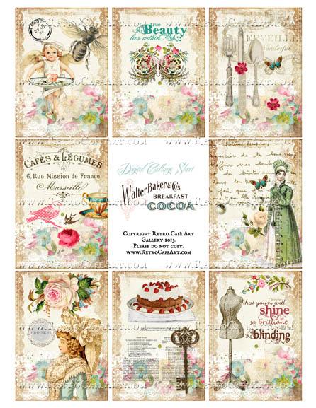 Lady Jane ATC Size Collage Sheet - SC101