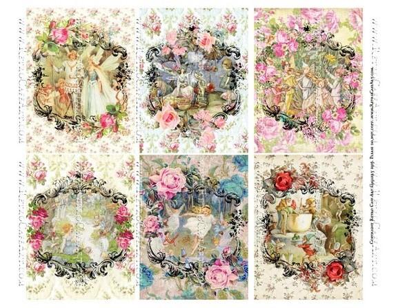 Windows To Fairyland Collage Sheet - SC104