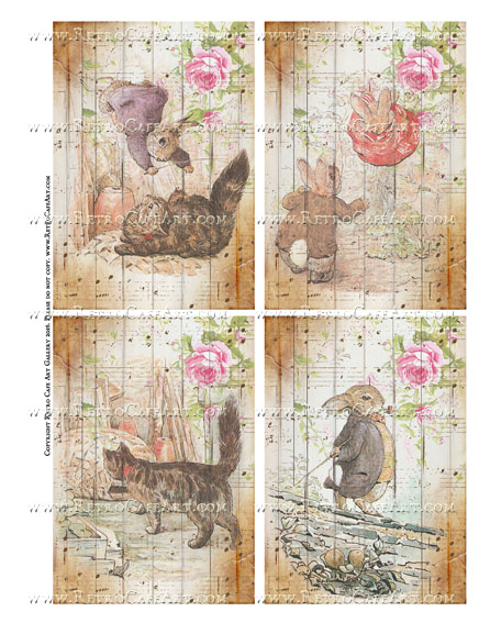 Benjamin Bunny Collage Sheet - SC107