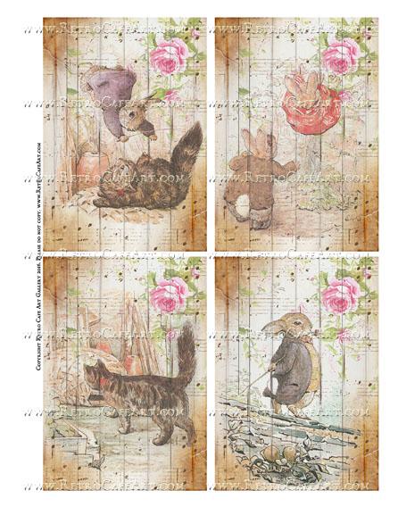 Benjamin Bunny Collage Sheet - SC107