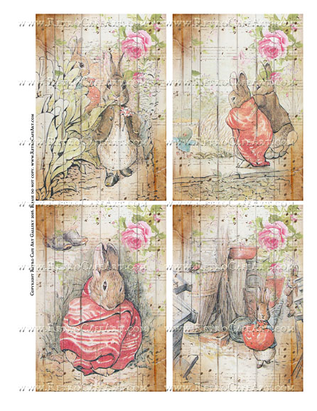 Benjamin Bunny Collage Sheet II - SC108