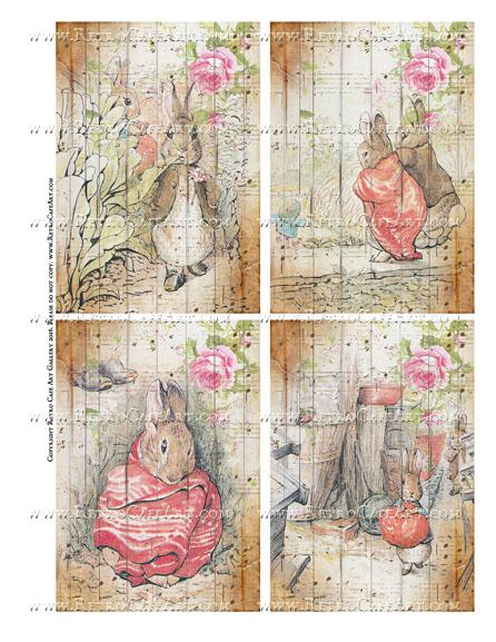 Benjamin Bunny Collage Sheet II - SC108