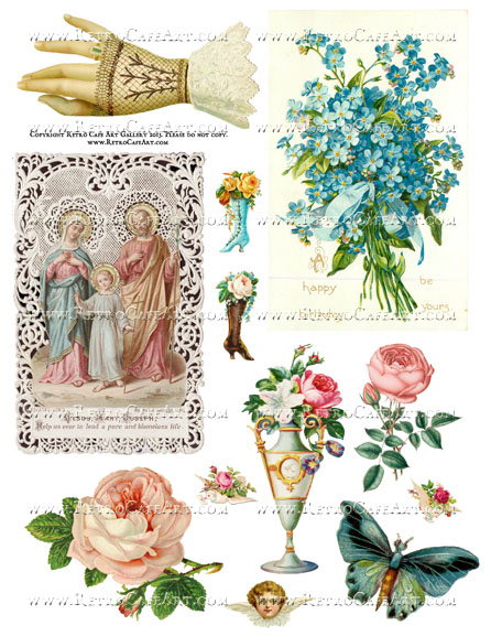 Lovely Iconic Collage Sheet - SC43