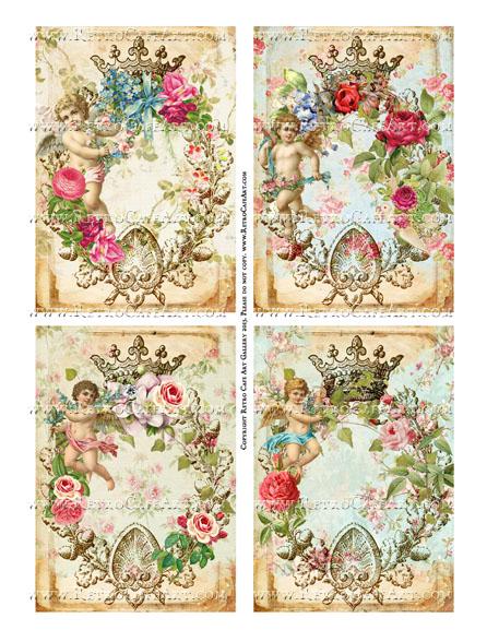 Antique Angels Collage Sheet - SC45