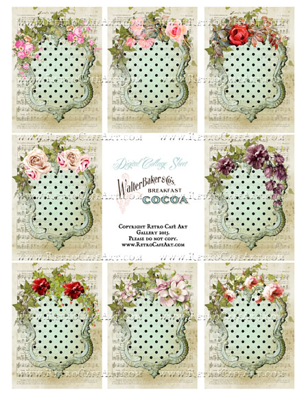 Southern Mint Julep ATC Size Collage Sheet - SC54
