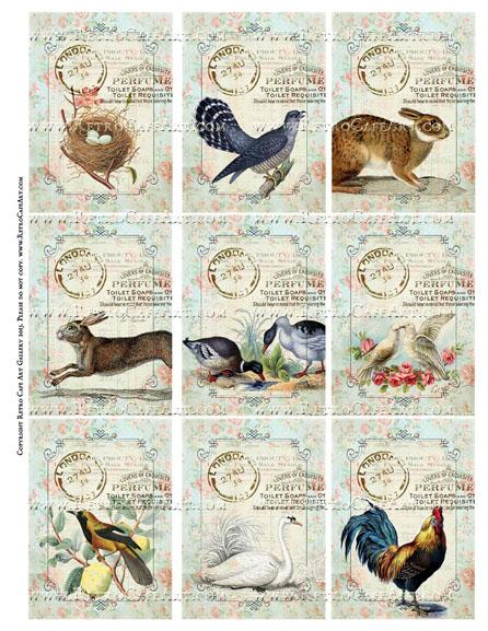 Animal Sanctuary ATC Size Collage Sheet - SC70