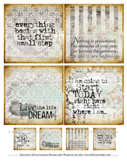Dream Life Squares Collage Sheet - SC74