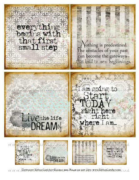 Dream Life Squares Collage Sheet - SC74