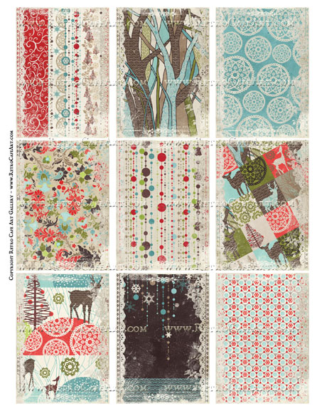 Minnesota Country Celebration Backgrounds ATC Size Collage Sheet - SC85