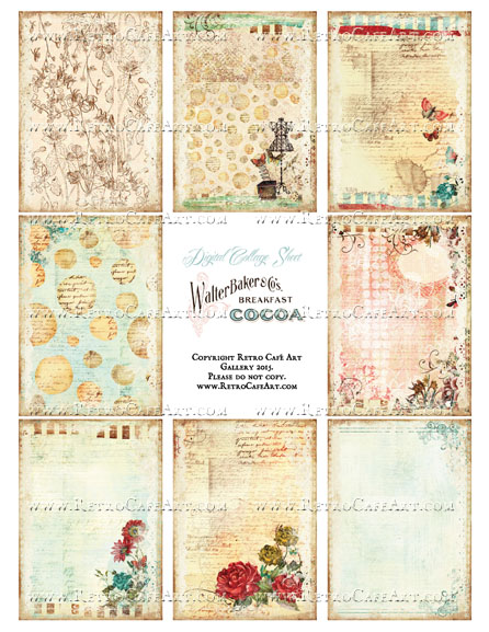 Secret Rendezvous ATC Size Collage Sheet - SC87