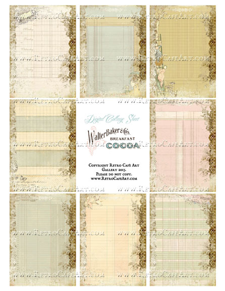 Altered Ledger Mix Size Collage Sheet - SC89