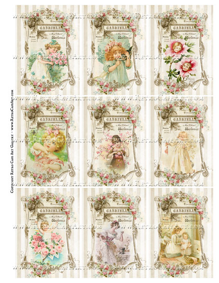 Precious Darlings ATC Size Collage Sheet - SC92