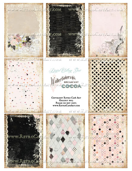 Diamond In The Sky ATC Size Collage Sheet - SC98