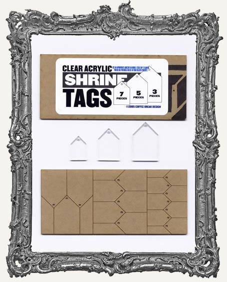 Clear Acrylic Tags - SHRINES or HOUSES