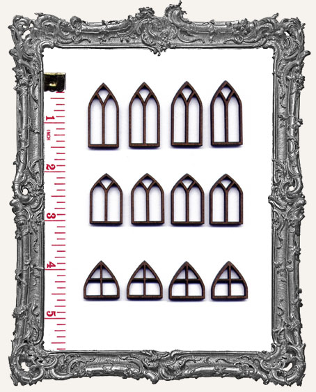 SMALL Classic Gothic Windows PACK OF 12