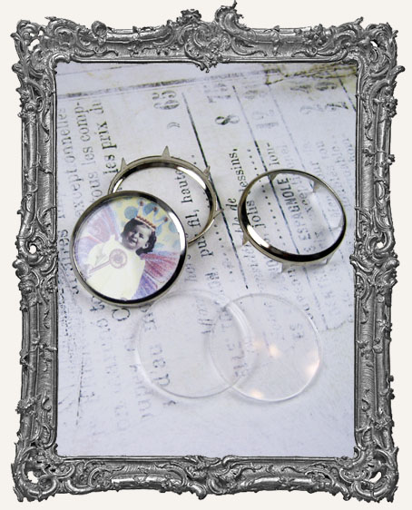 Typewriter Key Style 1 INCH Circle Frames PACK OF 3