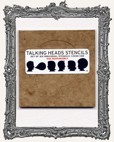 Talking Heads Set of 6 Stencils